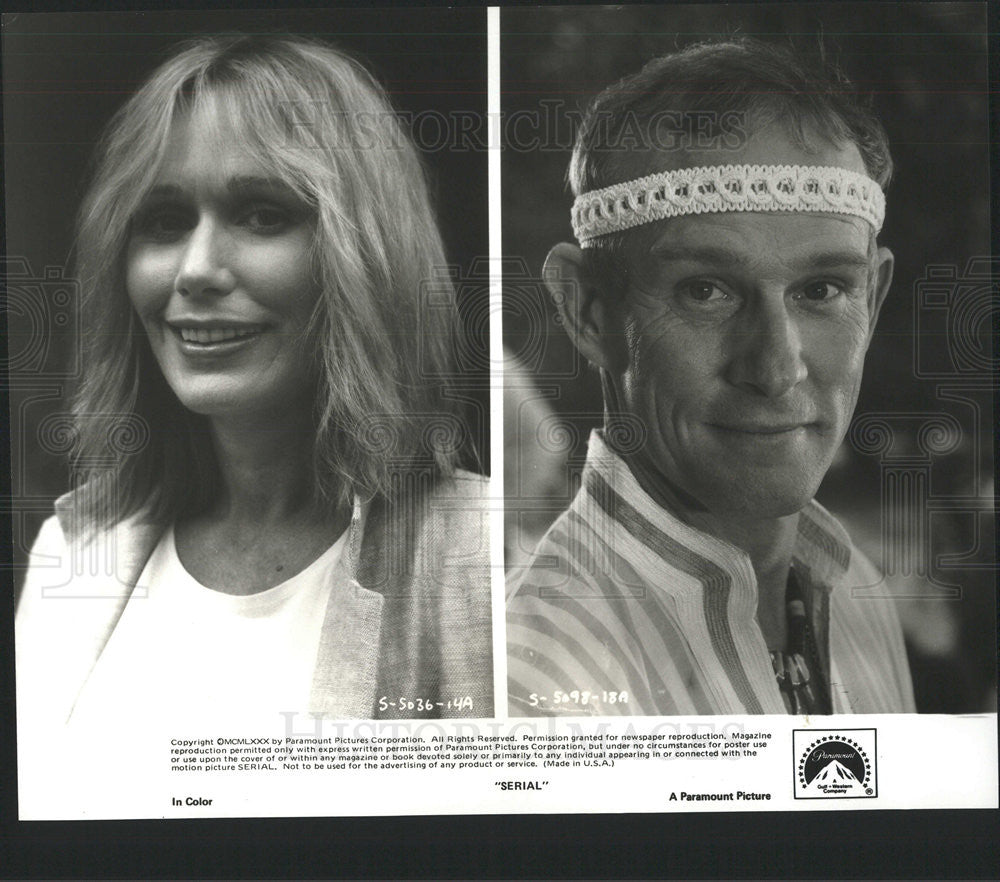 Press Photo Sally Kellerman and Tom Smothers - Historic Images