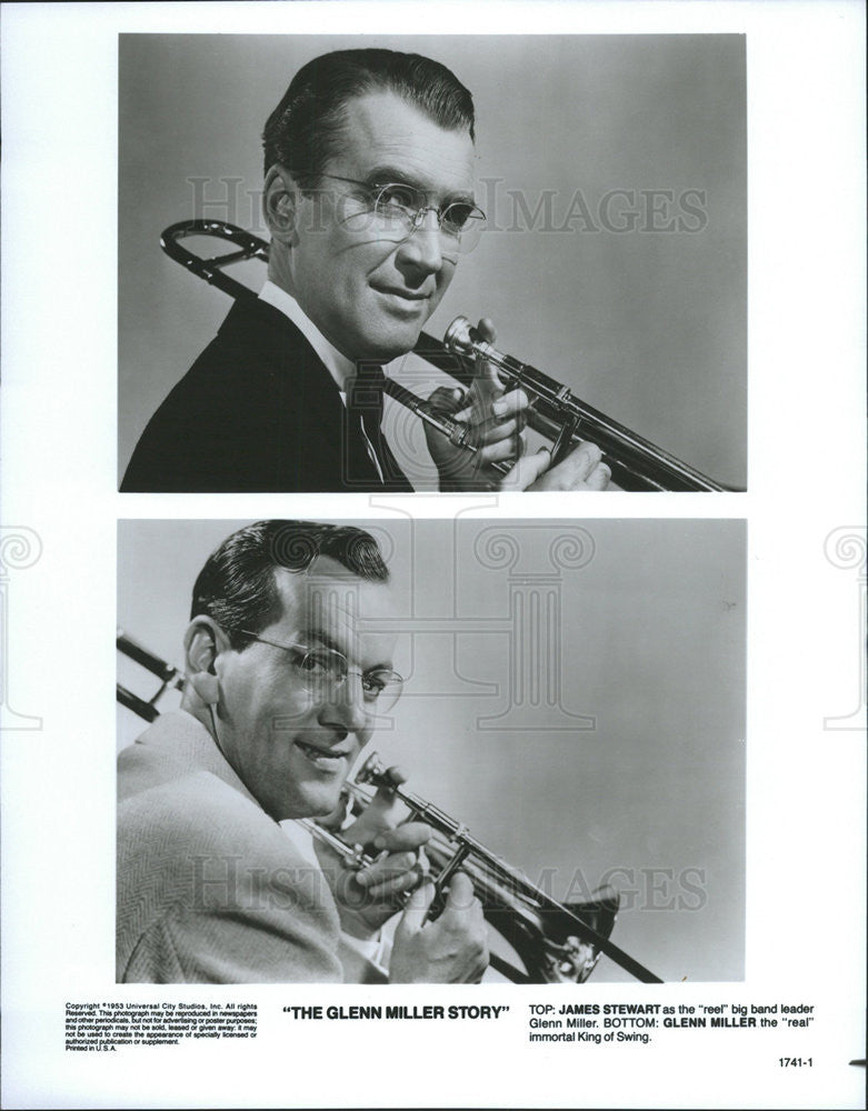 1953 Press Photo The Glenn Miller Story James Stewart - Historic Images