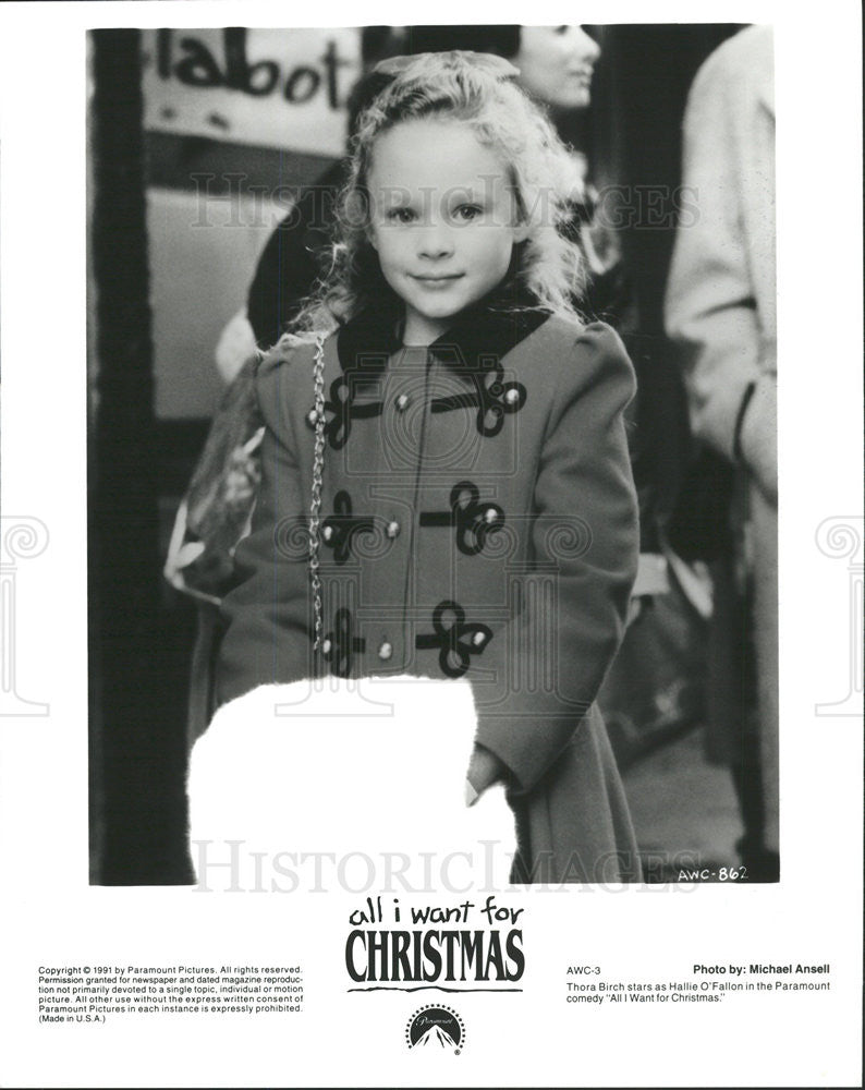 1991 press photo thora birch actress all i want for christmas historic images - All I Want For Christmas 1991