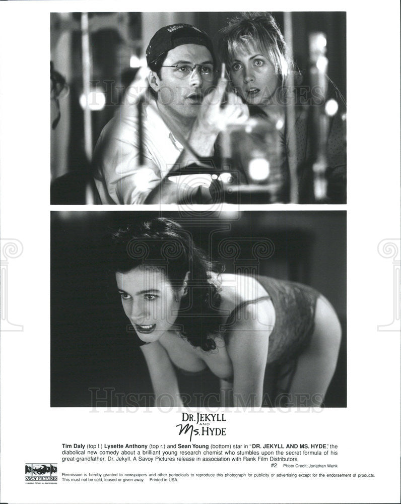 1995 Press Photo Tim Daly Actor Lysette Anthony Sean Young ...