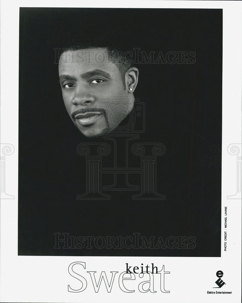 Press Photo American R & B Soul Singer Songwriter Keith Sweat - Historic Images