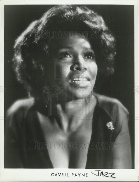 1986 Press Photo Jazz singer Cavril Payne - Historic Images