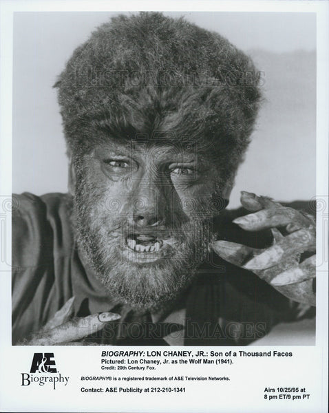 1995 Press Photo Lon Chaney Jr in Son of a Thousand Faces. - Historic Images