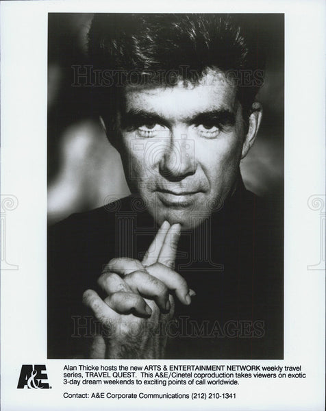 "Press Photo Alan Thicke Host of ""Travel Quest"" on A&E - Historic Images"