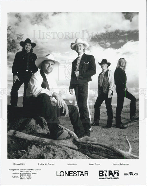Press Photo Michael Britt Richie McDonald John Rich of Lonestar - Historic Images
