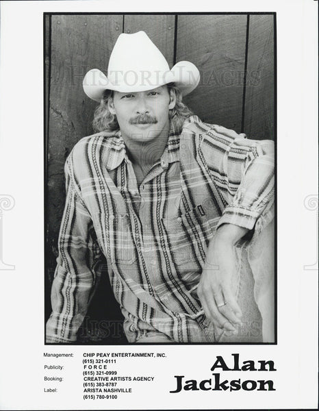 Press Photo Alan Jackson - Historic Images