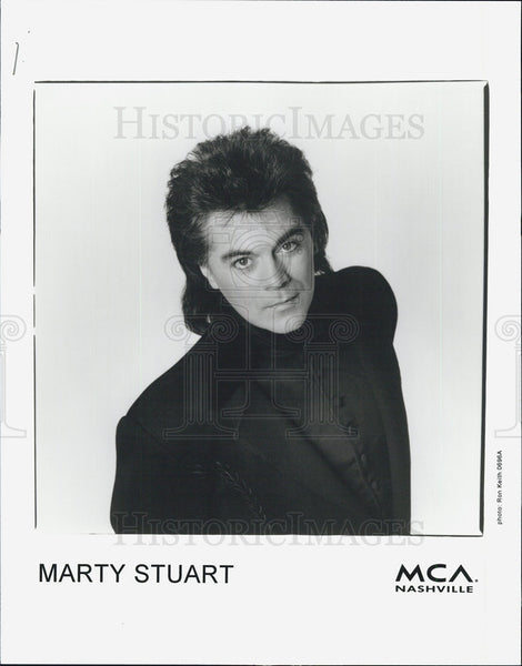 Press Photo Marty Stuart, MCA records - Historic Images