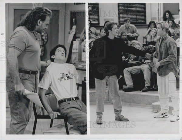 Press Photo Bob Golic Dustin Diamond Patrick Fabian Mark-Paul Gosselaar Actors - Historic Images