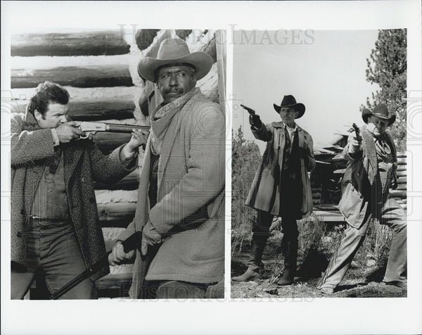Press Photo Brian Leckner Richard Roundtree Leonard Nimoy Ben Johnson Actors - Historic Images