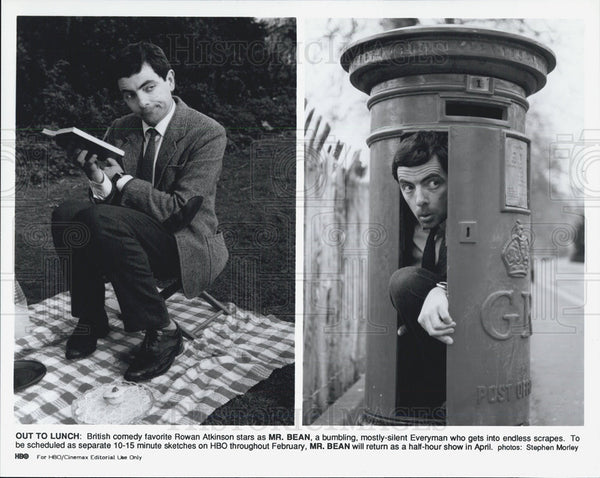 Press Photo British Comedy Favorite Rowan Atkinson as Mr. Bean - Historic Images
