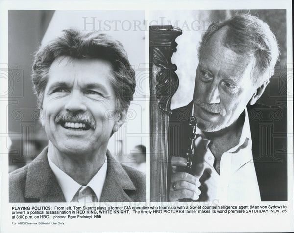 Press Photo Tom Skeritt & Max von Sydow star in Red King, White Knight - Historic Images