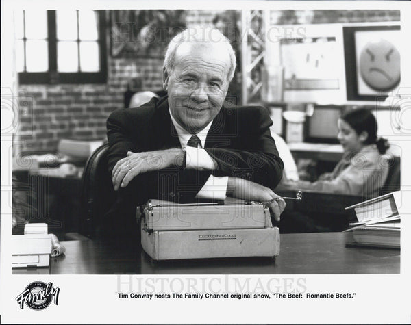 "Press Photo Tim Conway hosts ""The Beef: Romantic Beefs"" - Historic Images"