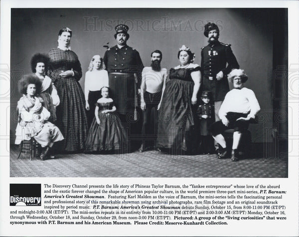 Press Photo Discovery Channels PT Barnum America's Greatest Showman - Historic Images