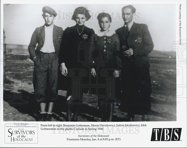 1940 Press Photo Survivors of the Holocaust on the TBS Channel - Historic Images