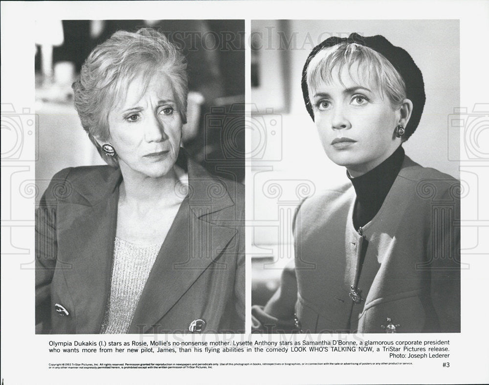 1993 Press Photo Olympia Dukakis And Lysette Anthony In Look Who S Tal Historic Images