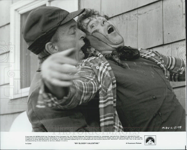 Press Photo Alf Humphreys, Larry Reynolds in My Bloody Valentine - Historic Images