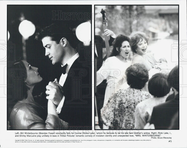 Press Photo Brendan Fraser, Rickie Lake, Shirley McLaine, Mrs Winterbourne - Historic Images