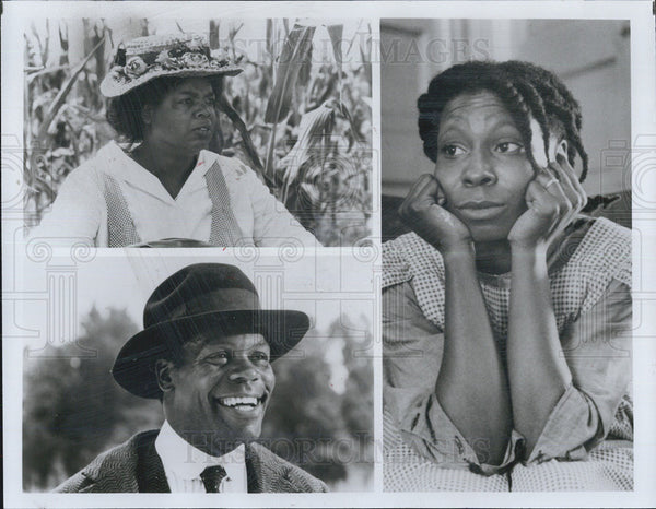 1990 Press Photo The Color Purple Film Oprah Winfrey Whoopi Goldberg Glover - Historic Images