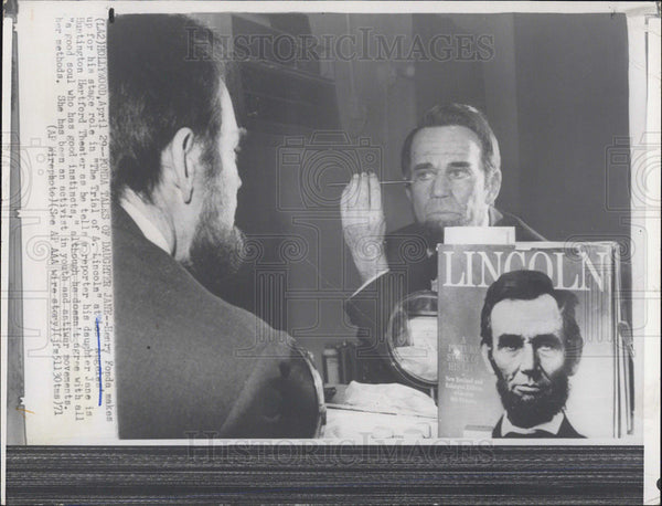 1971 Press Photo Henry Fonda Abraham Lincoln - Historic Images