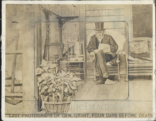 1934 Press Photo Last photograph of Gen Grant, 4 days before death - Historic Images