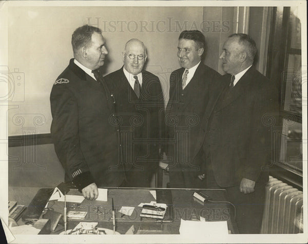 1934 Press Photo Martin H. King Michael Trainor Edward Fallon Archie Campbell - Historic Images