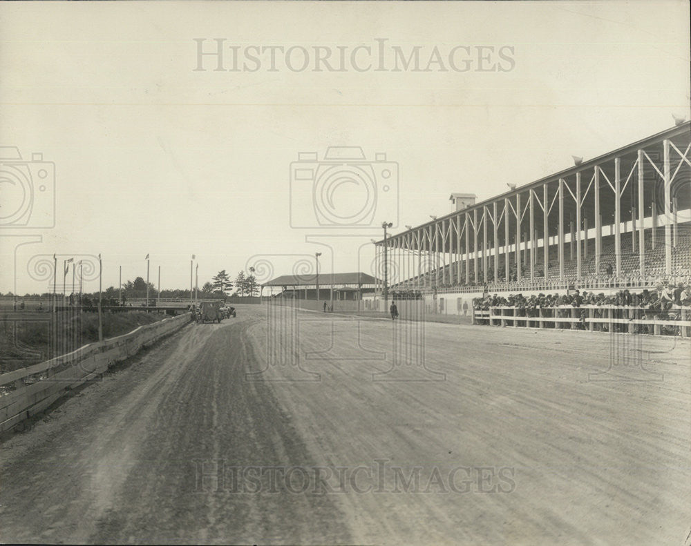 1928 Press Photo Grandstand at Escanaba,Mich fairgrounds - Historic Images