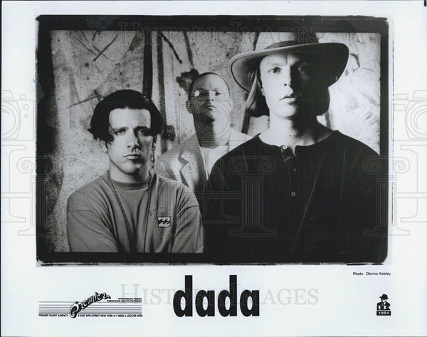 1996 Press Photo of The Dada, a three piece rock band from California - Historic Images