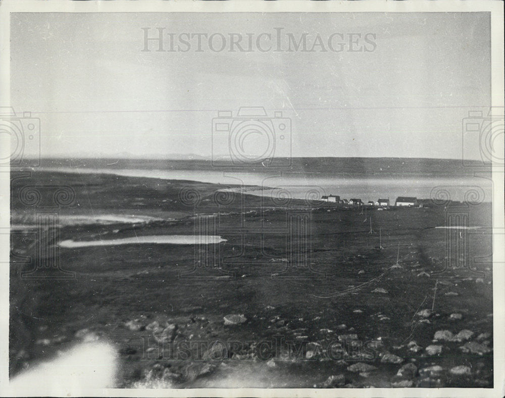 1933 Press Photo Greenly Island Labrader Aerial beach front view - Historic Images
