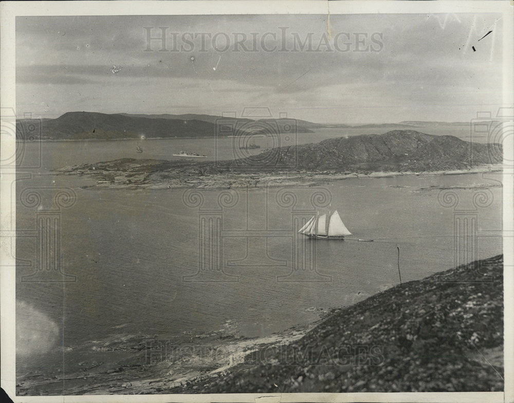 1928 Press Photo of Indian Harbor in Labrador near Greenley Island - Historic Images