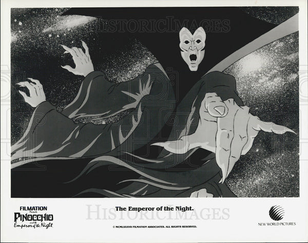 1987 Press Photo The Emperor of the Night PINOCCHIO AND THE EMPEROR OF NIGHT - Historic Images