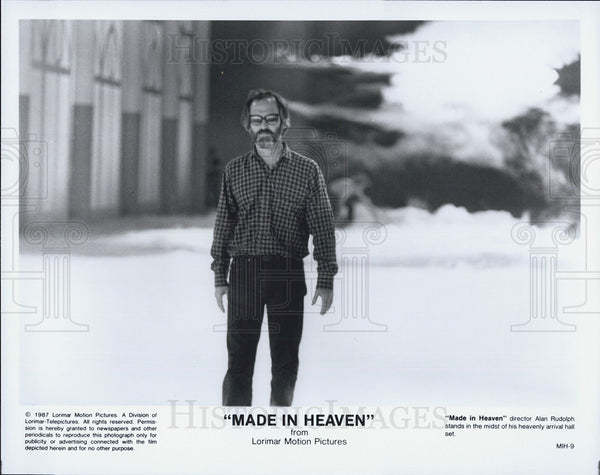"1987 Press Photo of director Alan Rudolph on the set of ""Made In Heaven"" - Historic Images"