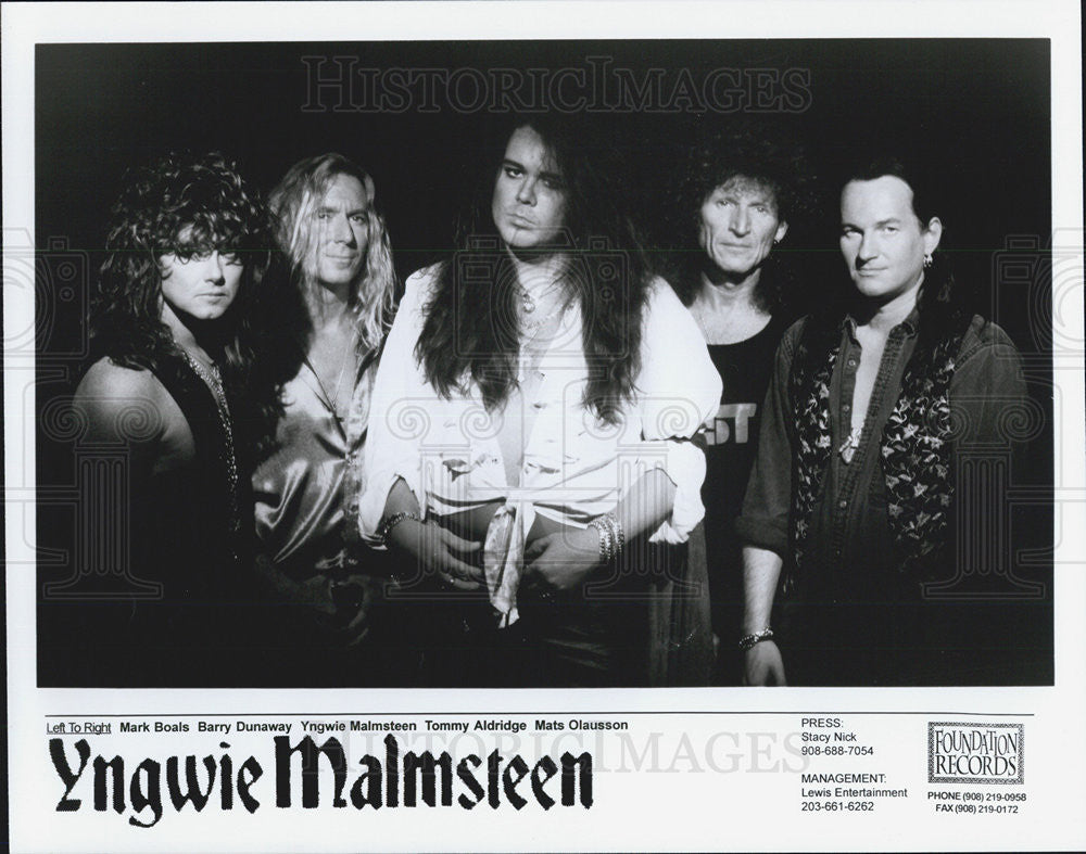 Press Photo Yngwie Malmsteen Musician Guitarist Foundation Records - Historic Images