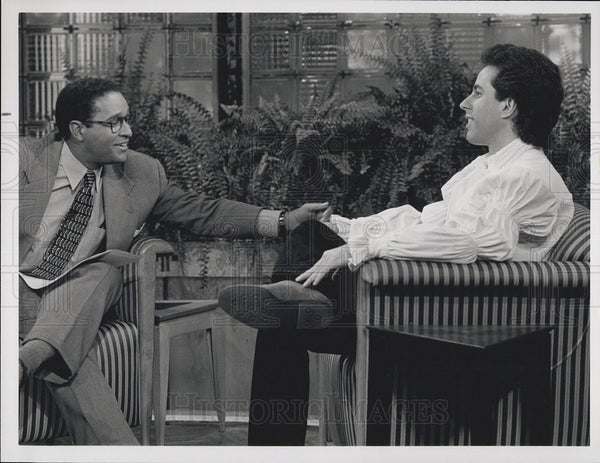 Press Photo Bryan Gumbel And Jerry Seinfeld In 'Seinfeld' - Historic Images