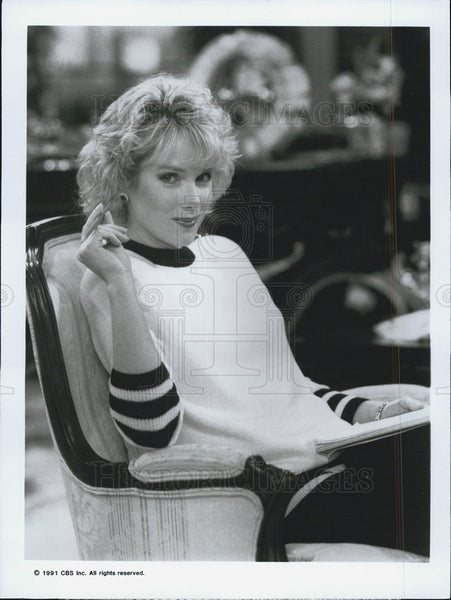 "1991 Press Photo Julia Duffy in ""Designing Women"" - Historic Images"
