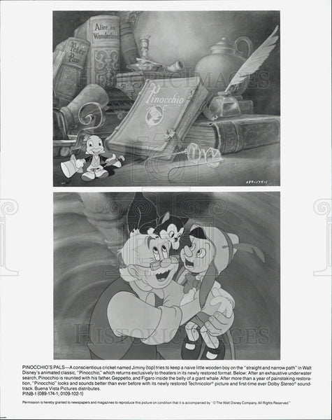 "1940 Press Photo Disney's ""Pinocchio"" - Historic Images"