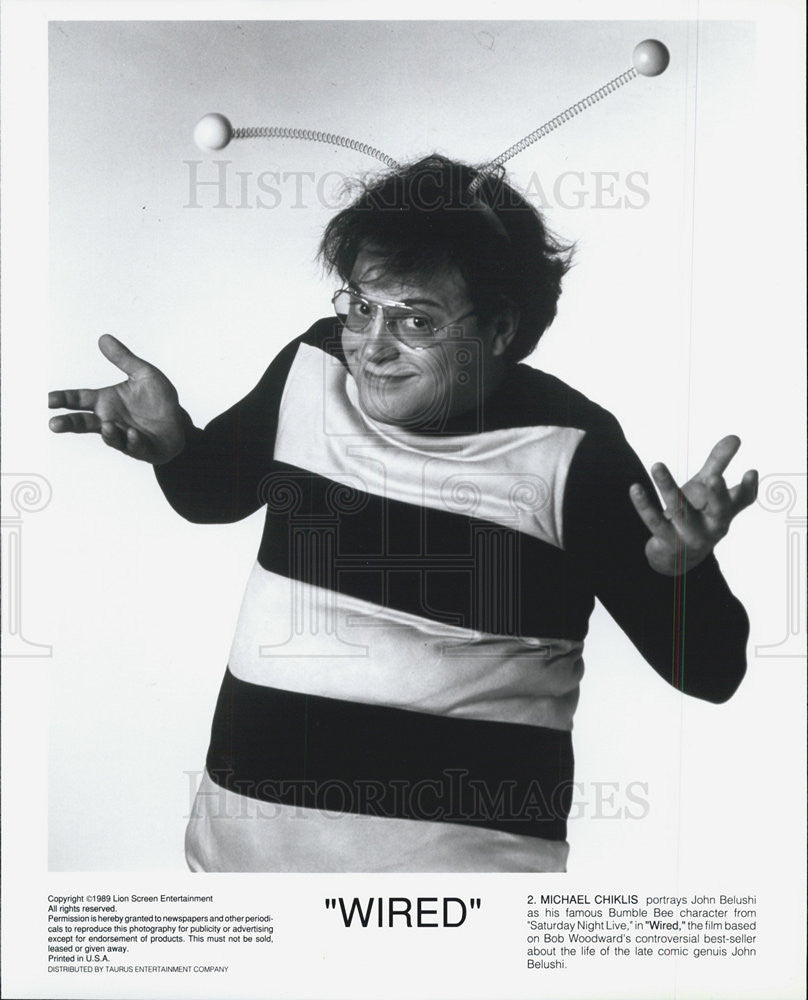 1989 Press Photo Michael Chiklas WIRED | Historic Images