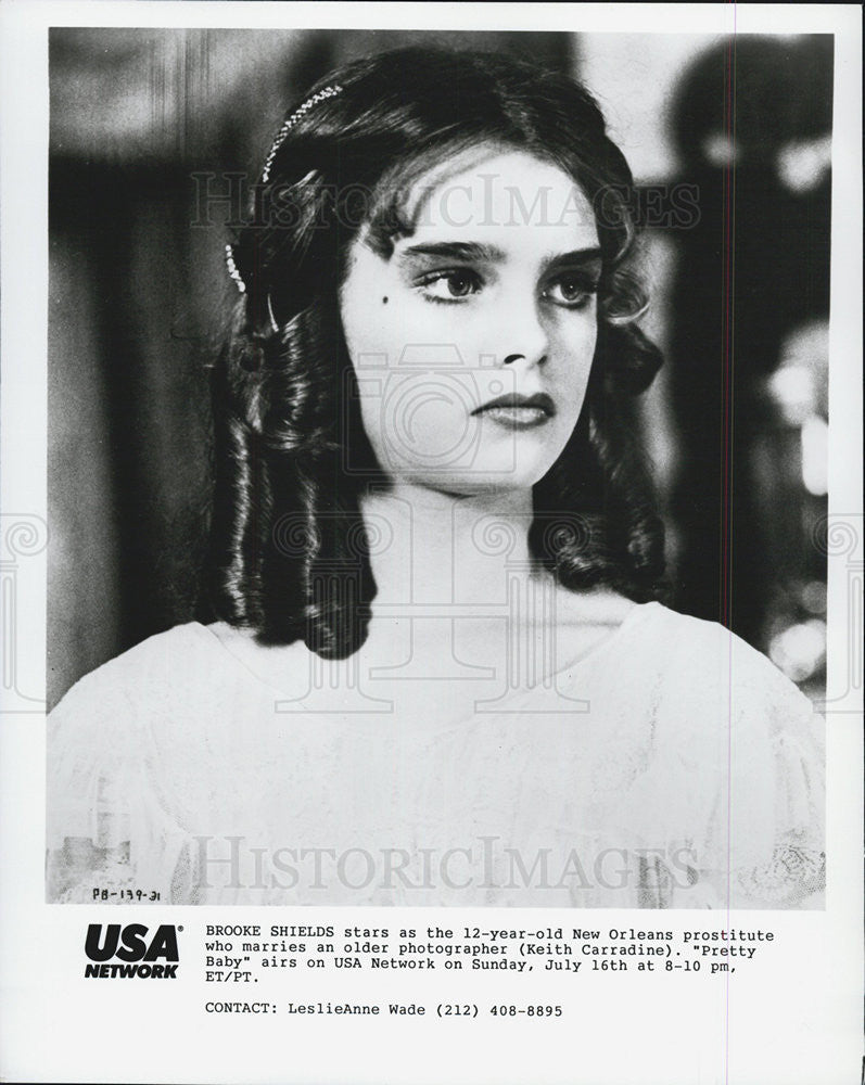 Press Photo Brooke Shields Pretty Baby Historic Images