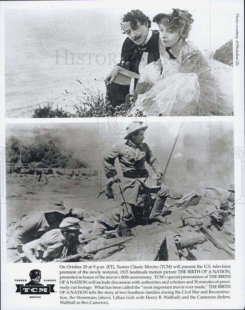 "1915 Press Photo ""The Birth of a Nation"" Lillian Gish, Henry Walthall - Historic Images"