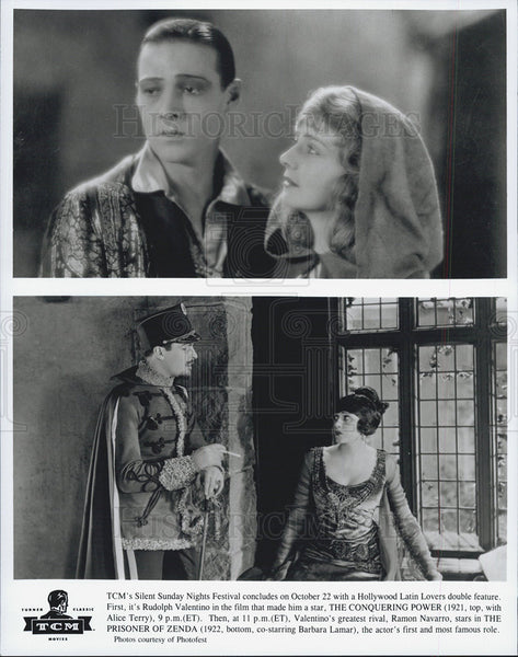 1920's Press Photo R. Valentino,A. Terry,R. Navarro,B. Lamar 1920's Silent Films - Historic Images