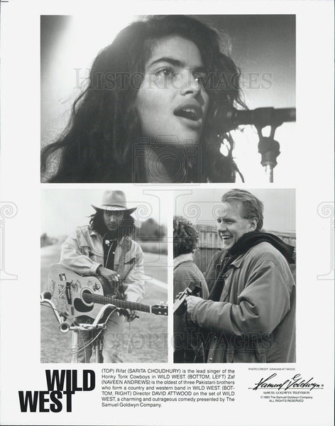 1993 Press Photo Wild West director David Attwood Sarita Choudhury Naveen - Historic Images
