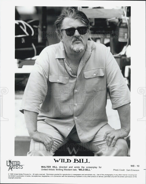1995 Press Photo Director Walter Hill Wild Bill
