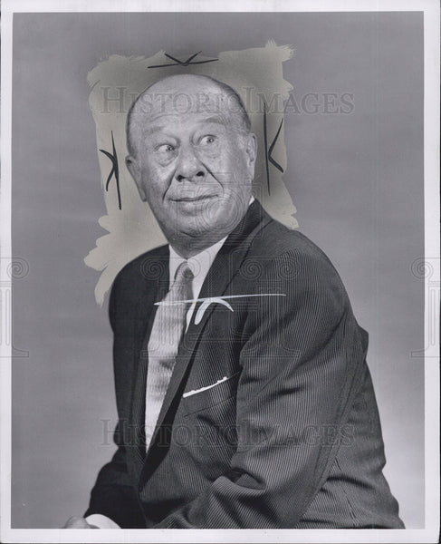1958 Press Photo Bert Lahr Comedian - Historic Images