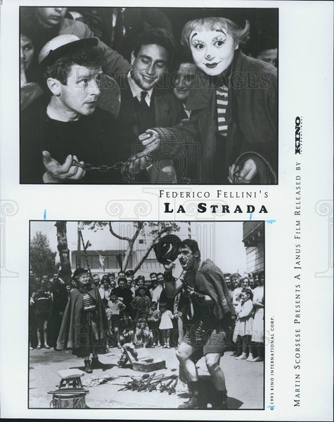 "1954 Press Photo ""La Strada"" Giuletta masina,Anthony Quinn,Richard Basehart, - Historic Images"