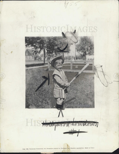 1936 Press Photo Bing Crosby Actor As Child - Historic Images