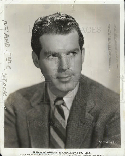 1938 Press Photo Fred MacMurray Actor - Historic Images