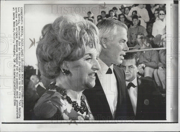 1966 Press Photo Lee Marvin Oscar Nomination CAT BALLOU Actress Hermoine Gingold - Historic Images