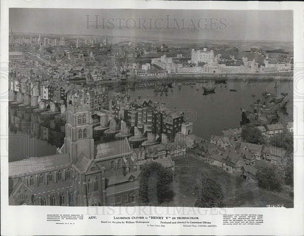 "1944 Press Photo Sixteenth Century London from Film ""Henry V"" - Historic Images"