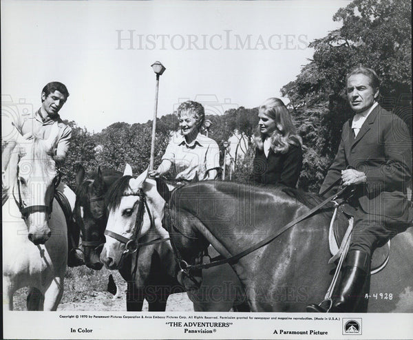 1970 Press Photo Bekim Fehmiu Olivia DeHavilland The Adventurers Film - Historic Images