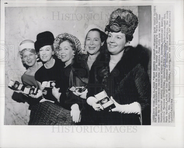 1970 Press Photo Actress Maureen O'Sullivan, Theater Kitty Carlisle - Historic Images