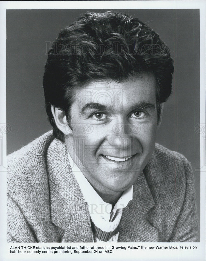 Press Photo Alan Thicke Actor Growing Pains Comedy Television Series Sitcom - Historic Images